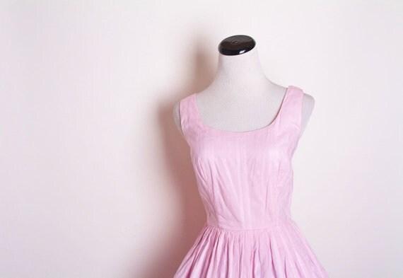 1950s Pink Cotton Dress 1171