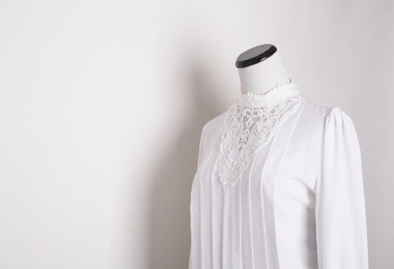 White Victorian Blouse / White Blouse / Blouses / Top / Tops / Shirt / Shirts / Bridal Blouse / Wedding / 1132
