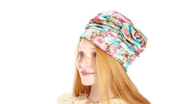 Turban Hat / 1960s Metallic Turban / Cloche / 60s / Mod / Pastels /  Avant Garde / Hat / Turban / 1184
