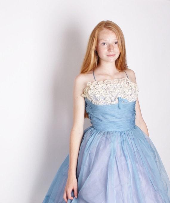 1950s Dress / Dress / Dresses / Lace Wedding Dress / Wedding Dress / Blue Dress / Vintage Lace / Bombshell / Pinup / Short Dres/ 0960