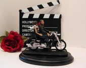 Tattoo bride and groom Motorcycle Wedding Cake Topper