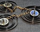 Steampunk Necklace Pendant Big Watch Parts