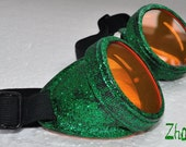 Steampunk Cyber Goggles Glasses Cosplay Anime Larp Rave Sheen gr kr