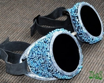 Steampunk Cyber Goggles Glasses Cosplay Anime Rave 98