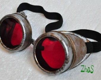 Steampunk Cyber Goggles Glasses Cosplay Anime Larp  Rave  196kr