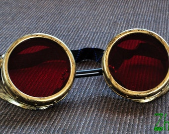 Steampunk  Goggles Glasses Cyber Goggles Cosplay Anime Larp  Rave  Fetish