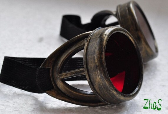 Steampunk Cyber Goggles Glasses Cosplay Anime Larp 128kr