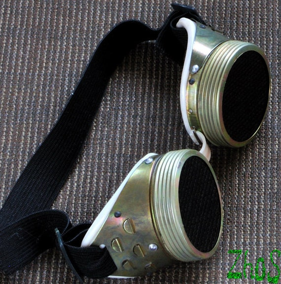 Steampunk Cyber Goggles Glasses Cosplay Anime Larp Rave