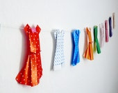 Paper Garland of Retro Dresses