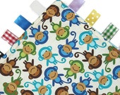 Monkey Tag Lovey - Baby Security Comforter Blankie