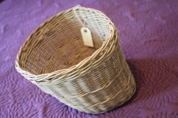 Vintage Woven Bicycle Basket