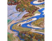 "Pastel Landscape ""Aerial 1"" Giclee Print"