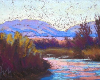 "Pastel Landscape ""Last Outing"" Giclee Print"
