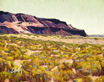 """Pastel Landscape """"Sunday"""" Limited Print"""