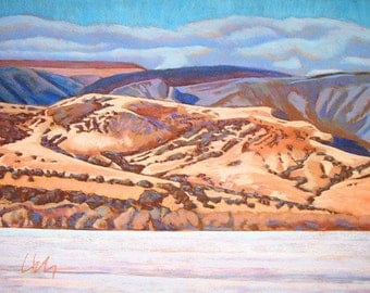 """Pastel Landscape """"West with the Sun"""" Limited Print"""