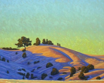 """Oil Landscape """"Warmth of Evening Light"""" Limited Print"""