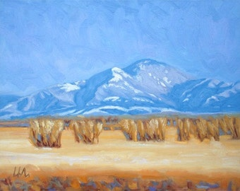 "Oil Landscape ""Gallatin Winter"" Limited Print"