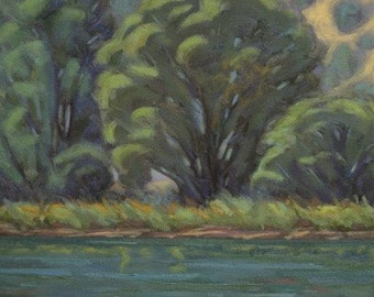 """Oil Landscape """"Across the Water"""" Limited Print"""