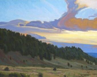 "Oil Landscape ""Journey's End"" Limited Print"