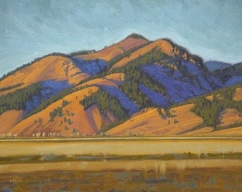 """Oil Landscape """"Late Light on the Foothills"""" Limited Print"""