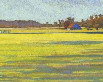 """Pastel Landscape """"Skagit Limelight"""" Limited Print"""