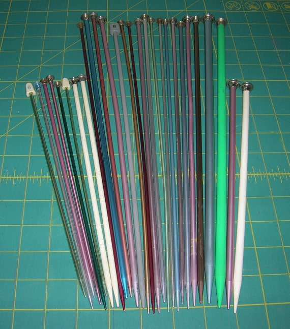 Mixed Lot Vintage Knitting Needles Mix and Match 14 Pairs