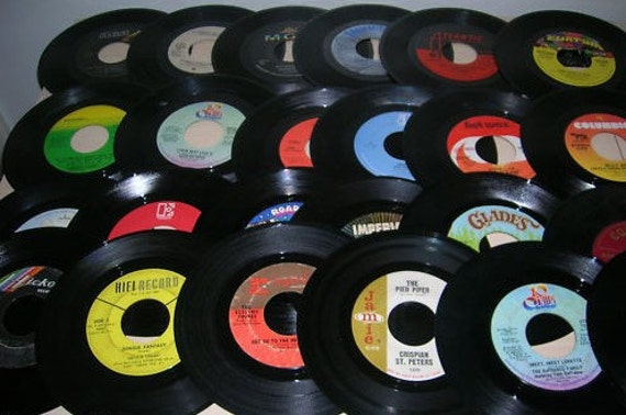 50 Count 45 RPM Record Lot 1960's Thru Early 80's Lot 2