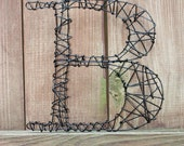 Twisted Wire Monogram Letter B