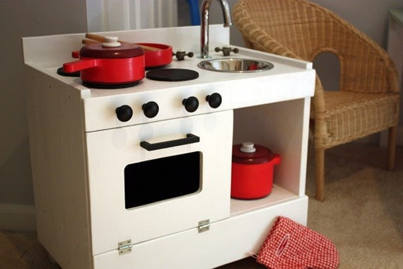 Reserved for dinorimere95  - Original Wooden Play Pretend Kitchen