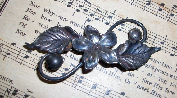 Antique BROOCH Sterling Silver Jewelry Element