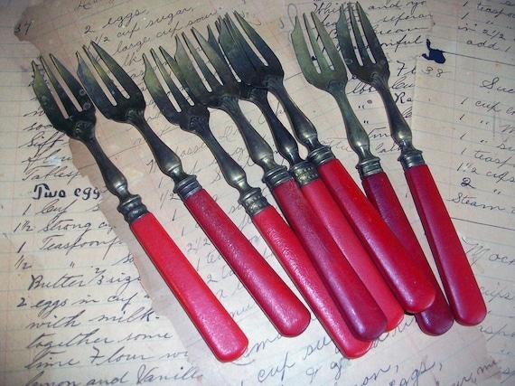 Antique French Dessert Forks