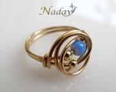 Unique Opal ring
