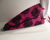 Drop Spindle Bag- pink baroque