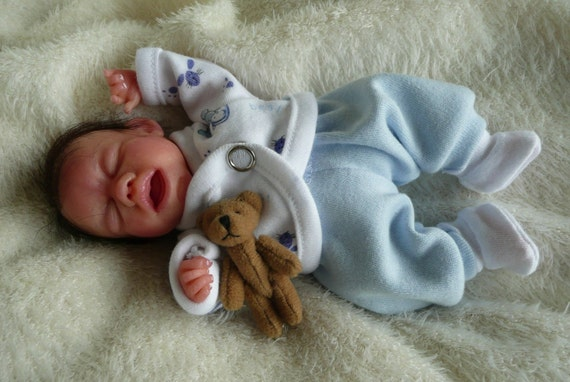 Ooak handsculpted baby Mike, just over 6 inches