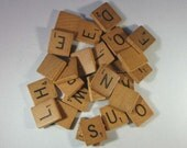 Vintage Scrabble Letter Squares - 24 Pieces
