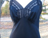 Navy Full Dress Slip - Vintage - Size 38 - MunSlingwear