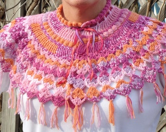 Crocheted Capelet Shawl