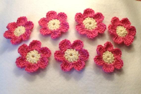 Crocheted Applique Flowers