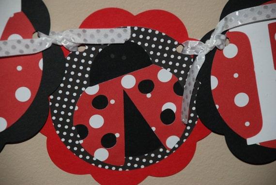 Seeing Spots Ladybug Birthday Banner