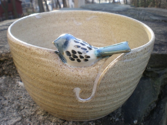 Little Bird Yarn Bowl, Budgie Yarn Bowl, Parakeet Yarn Bowl