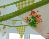40% off SALE ~ Rose Bud Bunting with 12 flags, perfect for weddings, parties, birthdays & baby showers READY to SHIP