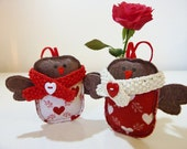 A pair of Love birds...Romeo & Juliet  Perfect engagement or wedding gift