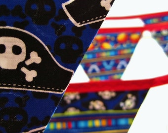 40% off SALE ~ Pirate Bunting ~ Perfect for birthday parties & playrooms with 12 large flags READY to SHIP