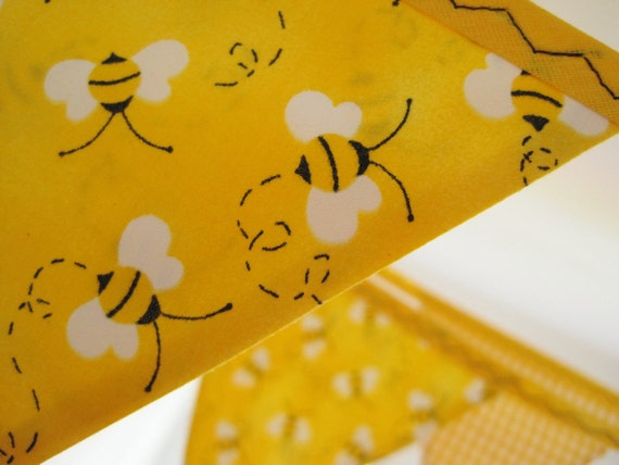 Bumble Bee Bunting Banner Perfect For Birthday Parties And