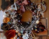 Sale-The Secret Garden Charm Bracelet -Autumn