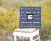 Pet Quote Picture Frame Gift.  'He is Your Friend, Your Partner, Your Defender'. Pet Quote Gift, Pet Lover, Dog Gift, Loss of Pet, Memorial.