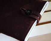 Padded Pure Wool iPad/ Netbook Sleeve/Case In Brown