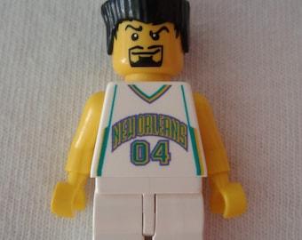 Custom NBA Basketball Team New Orleans Hornets Necklace Made With Genuine LEGO® Bricks