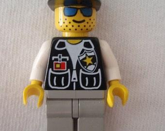 Custom Police Cop with Sheriff Star Necklace Made With Genuine LEGO® Bricks