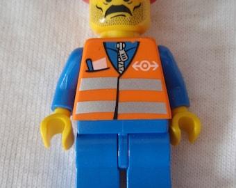 Custom City Construction Worker Necklace Made With Genuine LEGO® Bricks